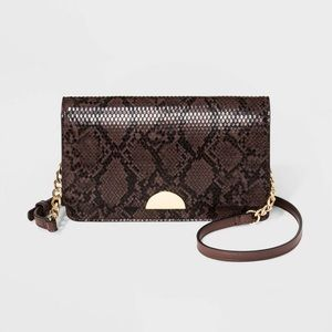 A New Day | Snakeprint Flap Crossbody Purse